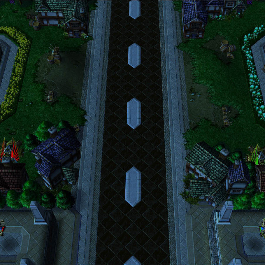 A screenshot of Capture the Flag: Flowers VS Mushrooms Warcraft III map.