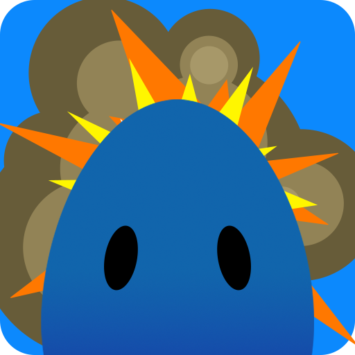 The blue egg character used in Stabilizer, a reflex and focus Android game.